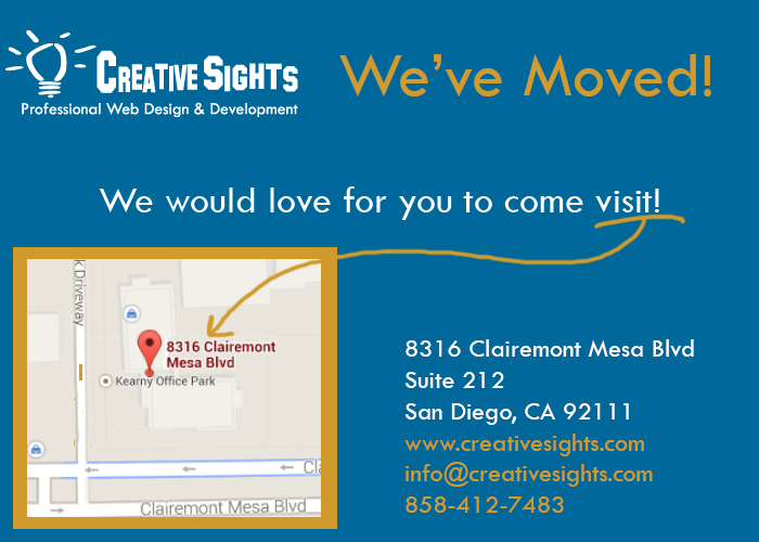CreativeSights is Growing - Visit our new office!