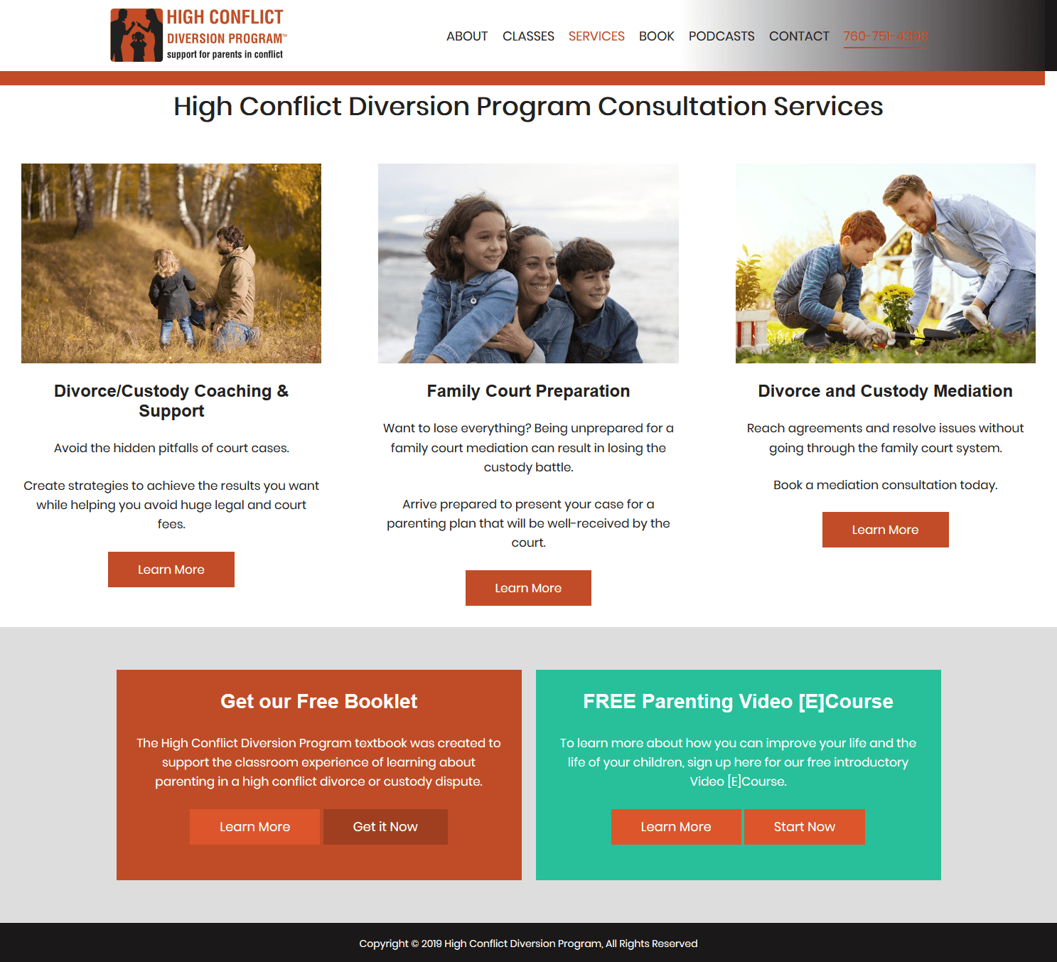 High Conflict Diversion Program Services